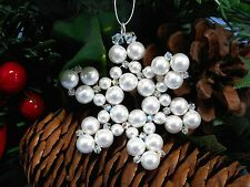 Snowflake Christmas Tree Decoration making kit with Swarovski Crystals & Pearls
