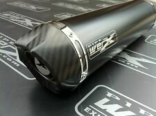 Honda CBR 600 F F1 01 02 03 04 05-09 Black Round, Carbon Outlet Exhaust Can