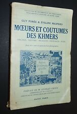 RARE MOEURS COUTUMES KHMERS CAMBODGE COLONIE FRANCE INDOCHINE CAMBODGIEN