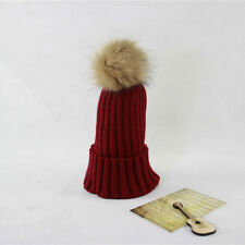 Braided Crochet Wool Knit Beanie Beret Ski Soft Ball Cap Baggy Womens Winter Hat