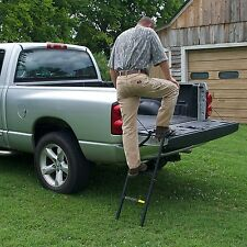 Traxion Pickup Truck Tailgate Ladder Step Extender Heavy Duty Outdoor Bed Secure