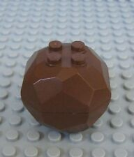Lego BROWN ROCK BOULDER Complete Assembly  Two Parts - Lot/1