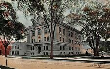 New York postcard Glens Falls City Hall and Central Fire Station ca 1912