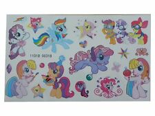 KIDS Temporary Tattoo MY LITTLE PONY No2 Great for Party Bags 9,5 x 16cm