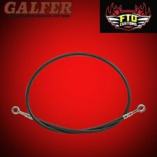 """Brake Line 36"""" long Smoke  for Extended Swingarms or Swingarm Extensions"""
