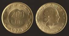 200 LIRE 1979 LAVORO - ITALIA FDC/UNC FIOR DI CONIO