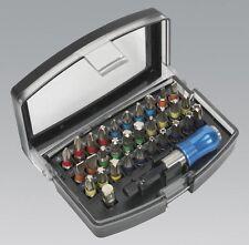 S01035 Sealey outil électrique bit set 32pc S2 code couleur
