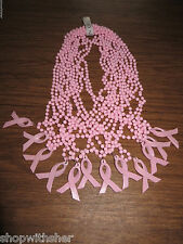 12 PINK RIBBON BREAST CANCER NECKLACES CENTERPIECES DECORATE GIFTS  OCTOBER SALE