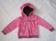PUMA Girls Pink Velour Hooded Zip up Track Jacket - SIZE 3T