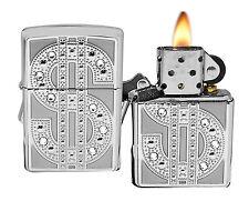 Zippo Lighter 20904 Bling Emblem Swarovski Crystal HP Chrome Gambling NEW