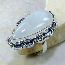 """UNIQUE TOP QUALITY RAINBOW MOONSTONE RING SIZE SZ 9  1 1/4"""" *FREE SHIPPING!*"""