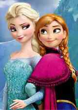 "Frozen Princess Anna / Elsa Iron On Transfer 6.5 x 4.5"" for LIGHT Colored Fabric"