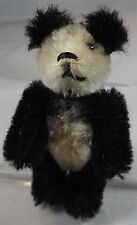 "VINTAGE 2.5"" MINIATURE SCHUCO JOINTED MOHAIR PANDA TEDDY BEAR WITH METAL EYES"
