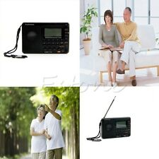 Digital Tuning LCD Receiver TF MP3 REC Player FM AM SW Full Band Radio Portable