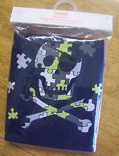 NWT GYMBOREE NAVY PUZZLE SKELETON CROSSBONES PAJAMAS GYMMIES sz 5 Free Shipping
