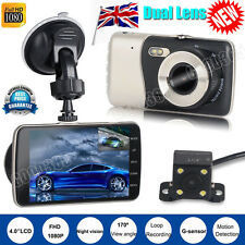 Dual Lens HD 1080P Dash Cam Car DVR Video Recorder Rearview Camera Night Vision