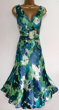 MONSOON ✩ STUNNING KENSINGTON ORIANE FLORAL SILK BURNOUT DRESS ✩ UK SIZE 20