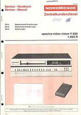 Nordmende Original Service Manual für spectra video vision V 500 Einstellungen