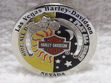 Harley Davidson Las Vegas Motorcycle Ride All Day Play Night Lapel Slider Pin