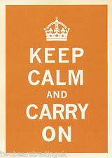 Postcard: Keep Calm And Carry On (British Government Poster) (Orange) (2014)