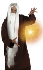 Gandalf Wizard Wig & Beard Accessories Fancy Dress Mens Costume Addons Halloween