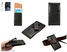 Leather Holster Executive Case Belt Clip Rotary 360º for =  TCL Ono P620M