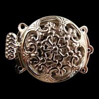 2/5/10 pcs 3 Strings Filigree Silver Plating Flower Box Clasps 22X32mm FINDINGS