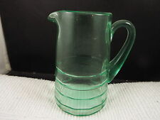 Vintage Green Vaseline Urainum Depression Glass Milk Pitcher