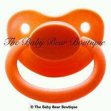 Orange adult pacifier LIMITED NUK 5/6 ddlg abdl