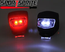 Ultra Bright Waterproof SILICON LED BIKE LIGHT SET 2LED Front+Rear Safety Light
