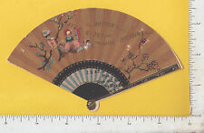 9539 Button Raven Shoe Polish hand fan die-cut trade card Button & Ottley, NYC
