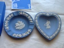 Set Of Two Wedgwood Blue And White Greek Dishes With Tags In Box