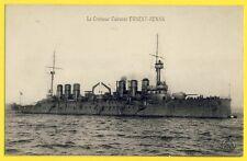cpa MARINE de GUERRE Navire Militaire Le CROISEUR CUIRASSÉ ERNEST RENAN Navy