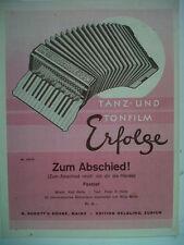 accordeon ZUM ABSCHIED ! Karl Bette
