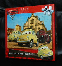 "Disney Pixar Cars Lenticular Puzzle 24-Pieces 12"" x 9"" Finished Picture Jigsaw"