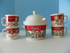 1993 Campbells soup tureen with lid, ladel and 4 cups MINT condition