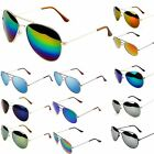 New Retro Vintage Womens Mens Mirror Reflective Lens Unisex Sunglasses BE