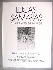 Lucas Samaras Art Gallery Exhibit PRINT AD - 1987