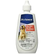 PetArmor Ear Mite and Tick Treatment for Dogs, 3 oz New