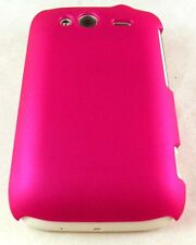 Dark Pink Hard Cover Case Rubber for HTC Wildfire S