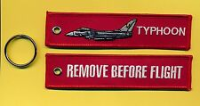 Typhoon Remove Before Flight embroidered Key Ring/Tag - New