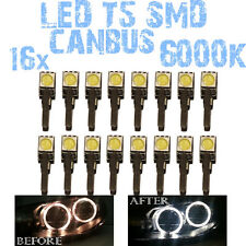 N° 16 Gloeilampen LED T5 Wit 6000K SMD 5050 Koplampen Angel Eyes DEPO FK 12v 1C3