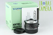 Voigtlander Nokton Classic S.C 40mm F/1.4 Lens for Leica M With Box #10297F2