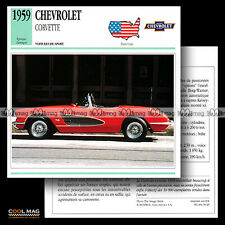 #039.20 CHEVROLET CORVETTE V8 (1959) - Fiche Auto Classic Car card