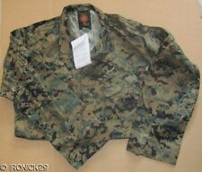 New USMC Woodland Digital Camo Shirt MCCUU BDU Authentic  SMALL/REG