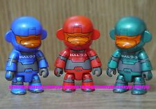 "Toy2R x XBOX 360 Live HALO 3 2.5""Qee Mon Key Chain Set of 3pcs Not For Sale"