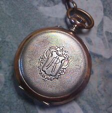 OUTSTANDING 19TH CENTURY .800 SILVER & 14K ROSE GOLD SWISS POCKET WATCH & CHAIN