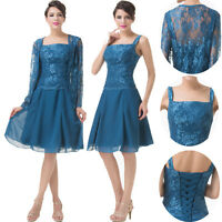 Formal Evening Wedding Mother of the bride Dresses/Outfits Free Jacket Prom Gown