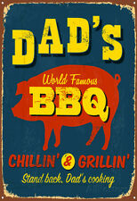 Dad's BBQ Poster Print by Real Callahan, 13x19