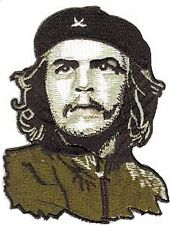 CHE GUEVARA in green uniform/beret EMBROIDERED IRON-ON PATCH cuba revolutionary